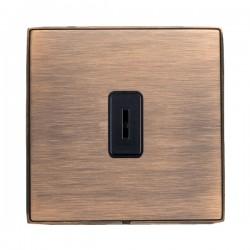 Hamilton Linea-Duo CFX Copper Bronze with Copper Bronze Frame 1 gang 20AX 2 Way Key Switch