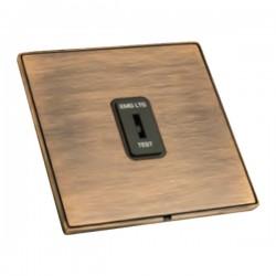Hamilton Linea-Duo CFX Copper Bronze with Copper Bronze Frame 1 gang 20AX 2 Way Key Switch 'EMG LTG TEST'