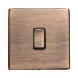 Hamilton Linea-Duo CFX Copper Bronze with Copper Bronze Frame 1 gang 10AX 2 Way Rocker