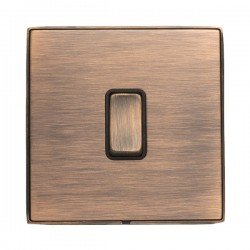 Hamilton Linea-Duo CFX Copper Bronze with Copper Bronze Frame 1 gang 10AX Push To Make/Push to Break Retractive Rocker