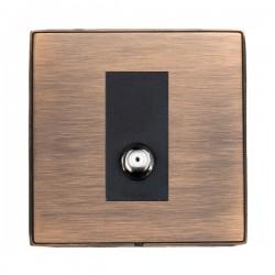 Hamilton Linea-Duo CFX Copper Bronze with Copper Bronze Frame 1 Gang Non Isolated Digital Satellite