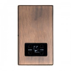 Hamilton Linea-Duo CFX Copper Bronze with Copper Bronze Frame Vertical Dual Voltage Unswitched Shaver Socket