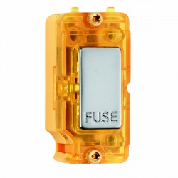 Hamilton Grid Fix Insert 13A Fuse + Amber Neon Pearl Oyster with Amber Insert