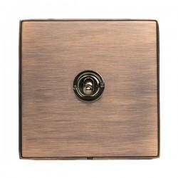 Hamilton Linea-Duo CFX Copper Bronze with Copper Bronze Frame 1 gang 20AX Intermediate Toggle
