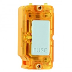 Hamilton Grid Fix Insert 13A Fuse + Amber Neon White with Amber Insert