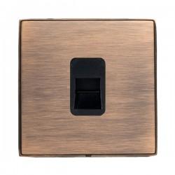 Hamilton Linea-Duo CFX Copper Bronze with Copper Bronze Frame 1 gang Telephone Master