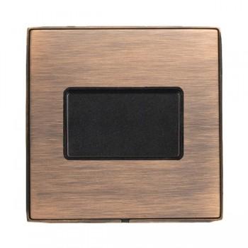Hamilton Linea-Duo CFX Copper Bronze with Copper Bronze Frame 1 gang 10A Triple Pole Rocker