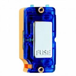 Hamilton Grid Fix Insert 13A Fuse + Blue Neon Bright Chrome with Blue Insert