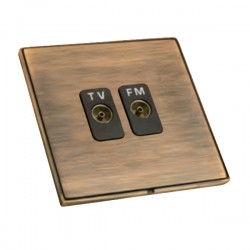 Hamilton Linea-Duo CFX Copper Bronze with Copper Bronze Frame Isolated TV/FM Diplexer 1in/2out