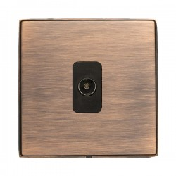 Hamilton Linea-Duo CFX Copper Bronze with Copper Bronze Frame 1 gang Isolated TV 1in/1out