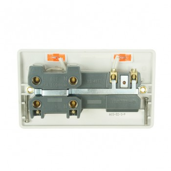 Click Mode White PVC 45amp Cooker Switch and 13amp Socket with Neons