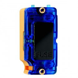 Hamilton Grid Fix Insert 13A Fuse + Blue Neon Black with Blue Insert