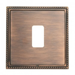 Hamilton Linea-Georgian CFX Copper Bronze with Copper Bronze Frame 1 Gang Grid Fix Aperture Plate with Gr...