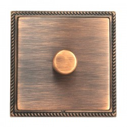 Hamilton Linea-Georgian CFX Copper Bronze with Copper Bronze Frame 1 gang 300VA 2 Way Leading Edge Push O...