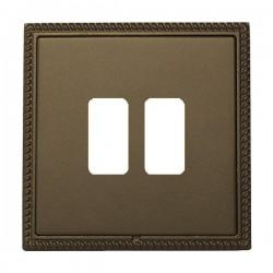Hamilton Linea-Georgian CFX Richmond Bronze with Richmond Bronze Frame 2 Gang Grid Fix Aperture Plate wit...