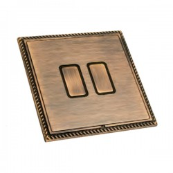 Hamilton Linea-Georgian CFX Copper Bronze with Copper Bronze Frame 2 gang Multi-Way Touch Slave Controlle...