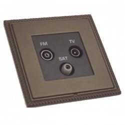 Hamilton Linea-Georgian CFX Richmond Bronze with Richmond Bronze Frame Non-Isolated TV+FM+SAT Triplexer 1in/3out