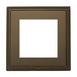 Hamilton Linea-Georgian CFX Richmond Bronze with Richmond Bronze Frame Single Plate complete with 2 EuroFix Apertures 50x50mm and Grid