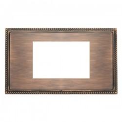 Hamilton Linea-Georgian CFX Copper Bronze with Copper Bronze Frame Double Plate complete with 3 EuroFix Apertures 75x50mm and Grid