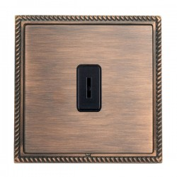 Hamilton Linea-Georgian CFX Copper Bronze with Copper Bronze Frame 1 gang 20AX 2 Way Key Switch