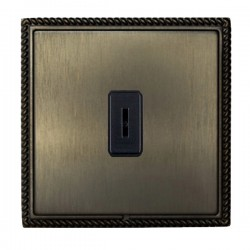 Hamilton Linea-Georgian CFX Etrium Bronze with Etrium Bronze Frame 1 gang 20AX 2 Way Key Switch