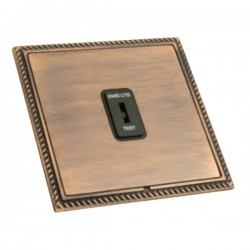 Hamilton Linea-Georgian CFX Copper Bronze with Copper Bronze Frame 1 gang 20AX 2 Way Key Switch 'EMG LTG TEST'