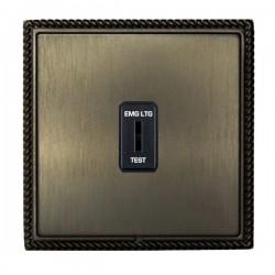 Hamilton Linea-Georgian CFX Etrium Bronze with Etrium Bronze Frame 1 gang 20AX 2 Way Key Switch 'EMG LTG TEST'