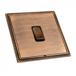 Hamilton Linea-Georgian CFX Copper Bronze with Copper Bronze Frame 1 gang 10AX 2 Way Rocker