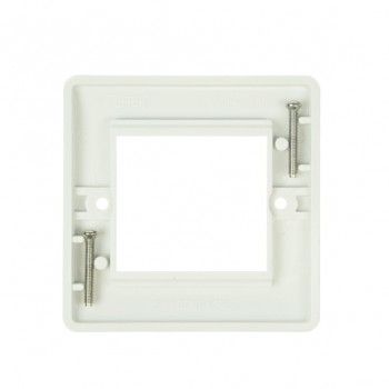 Click Mode Single Twin Aperture White PVC Module Plate
