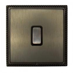 Hamilton Linea-Georgian CFX Etrium Bronze with Etrium Bronze Frame 1 gang 10AX Push To Make/Push to Break Retractive Rocker