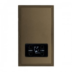 Hamilton Linea-Georgian CFX Richmond Bronze with Richmond Bronze Frame Vertical Dual Voltage Unswitched Shaver Socket