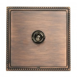 Hamilton Linea-Georgian CFX Copper Bronze with Copper Bronze Frame 1 gang 20AX 2 Way Toggle