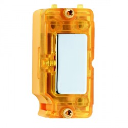 Hamilton Grid Fix Insert Amber Neon Bright Chrome with Amber Insert