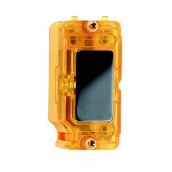 Hamilton Grid Fix Insert Amber Neon Black Nickel with Amber Insert
