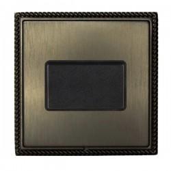 Hamilton Linea-Georgian CFX Etrium Bronze with Etrium Bronze Frame 1 gang 10A Triple Pole Rocker