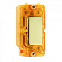 Hamilton Grid Fix Insert Amber Neon Polished Brass with Amber Insert