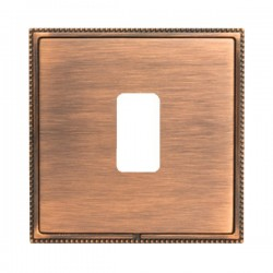 Hamilton Linea-Perlina CFX Copper Bronze with Copper Bronze Frame 1 Gang Grid Fix Aperture Plate with Grid