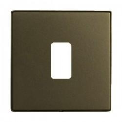 Hamilton Linea-Perlina CFX Richmond Bronze with Richmond Bronze Frame 1 Gang Grid Fix Aperture Plate with Grid