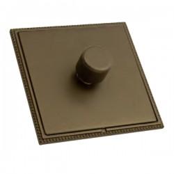 Hamilton Linea-Perlina CFX Richmond Bronze with Richmond Bronze Frame 1 gang 300VA 2 Way Leading Edge Push On/Off Inductive Dimmer