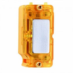 Hamilton Grid Fix Insert Amber Neon Satin Chrome with Amber Insert