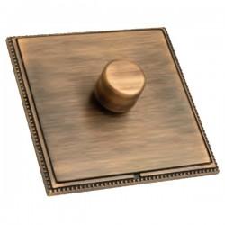 Hamilton Linea-Perlina CFX Copper Bronze with Copper Bronze Frame 1 gang 250W/210VA Multi-Way Trailing Edge Push On/Off Dimmer