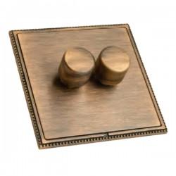 Hamilton Linea-Perlina CFX Copper Bronze with Copper Bronze Frame 2 gang 250W/210VA Multi-Way Trailing Edge Push On/Off Dimmer