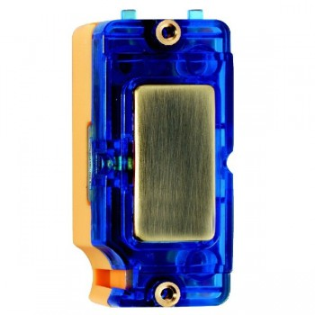 Hamilton Grid Fix Insert Blue Neon Antique Brass with Blue Insert