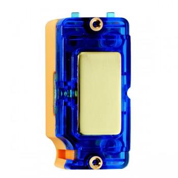 Hamilton Grid Fix Insert Blue Neon Polished Brass with Blue Insert