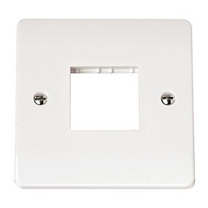 Click Mode Single Twin Aperture White PVC Mini Grid Module Plate