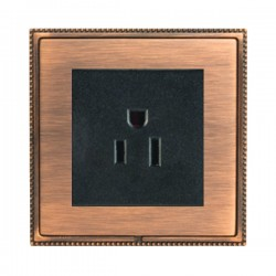 Hamilton Linea-Perlina CFX Copper Bronze with Copper Bronze Frame 1 gang 15A 110V AC American Unswitched Socket
