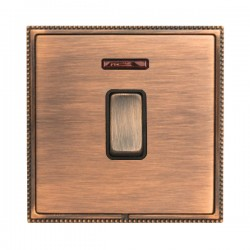 Hamilton Linea-Perlina CFX Copper Bronze with Copper Bronze Frame 1 gang 20AX Double Pole Rocker and Neon