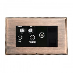 Hamilton Linea-Perlina CFX Copper Bronze with Copper Bronze Frame Non-Isolated TV+FM+SAT1+SAT2 Quadplexer 2in/4out +TVF+TCS