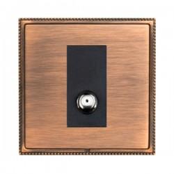 Hamilton Linea-Perlina CFX Copper Bronze with Copper Bronze Frame 1 gang Non-Isolated Digital Satellite