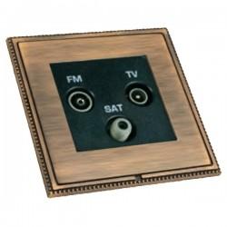 Hamilton Linea-Perlina CFX Copper Bronze with Copper Bronze Frame Non-Isolated TV+FM+SAT Triplexer 1in/3out